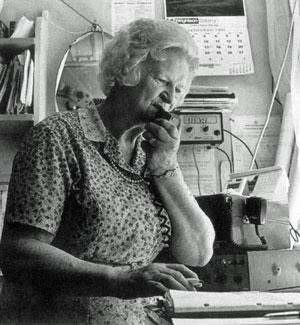 Betty Baker operating Cape Jackson Radio