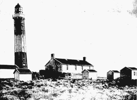 Lighthouse at Dog Island in 1901