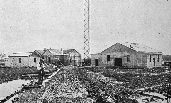 The North Auckland high-power wireless station: the buildings at Kaitaia