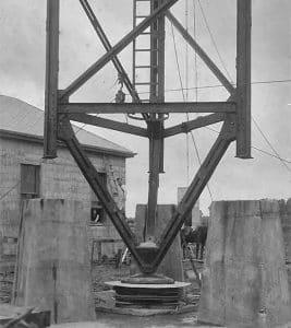 Awanui tower base, possibly 1919