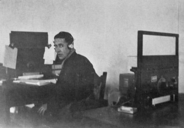 Elvin (Ellie) Ellenden at Awarua Radio in 1966