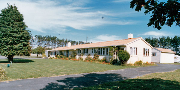 Hostel for single staff at Himatangi Radio contained 14 bedrooms plus a 2-bedroom flat for the hostel manageress.