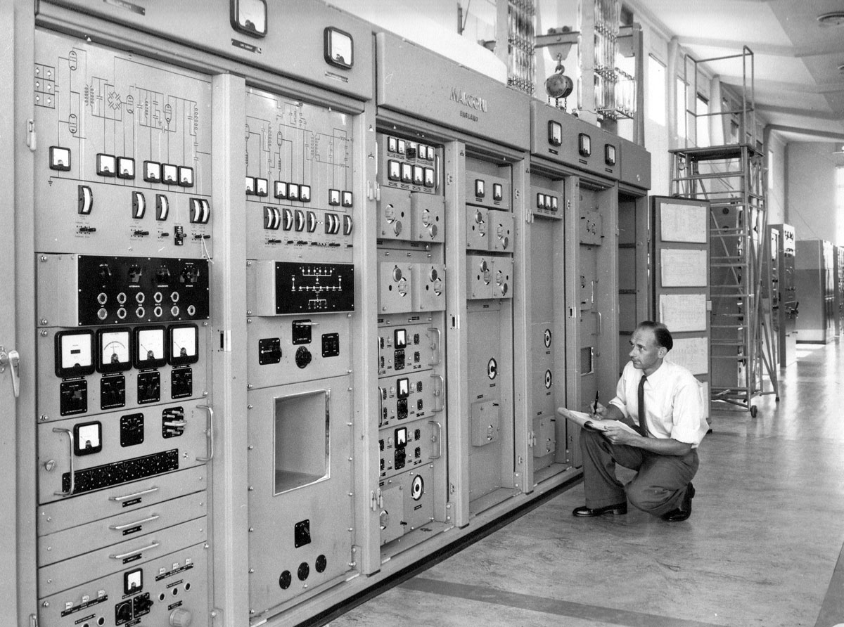 Marconi HS51 transmitter in service