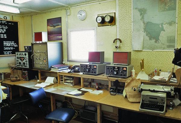 Scott Base radio room 1974-1975