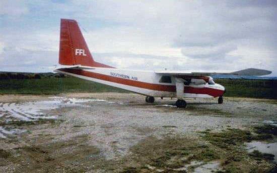 Awarua farm airstrip in January 1984
