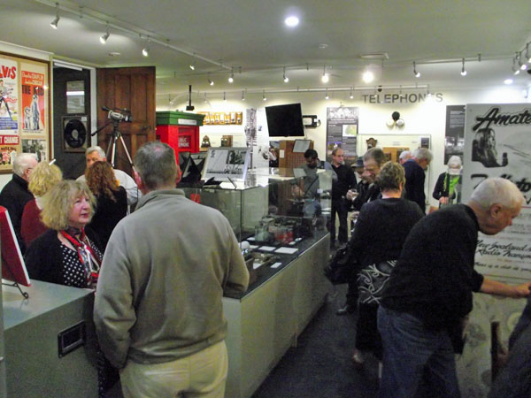 A big crowd was on hand at Awarua Communications Museum for the book launch. — in Awarua,A big crowd was on hand at Awarua Communications Museum for the book launch. New Zealand.