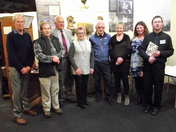 Some of the people responsible for the Awarua Communications Museum