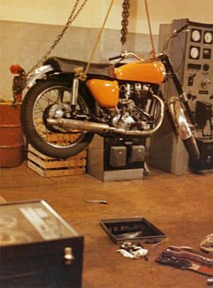 Ariel 350 motorcycle at Himatangi Radio