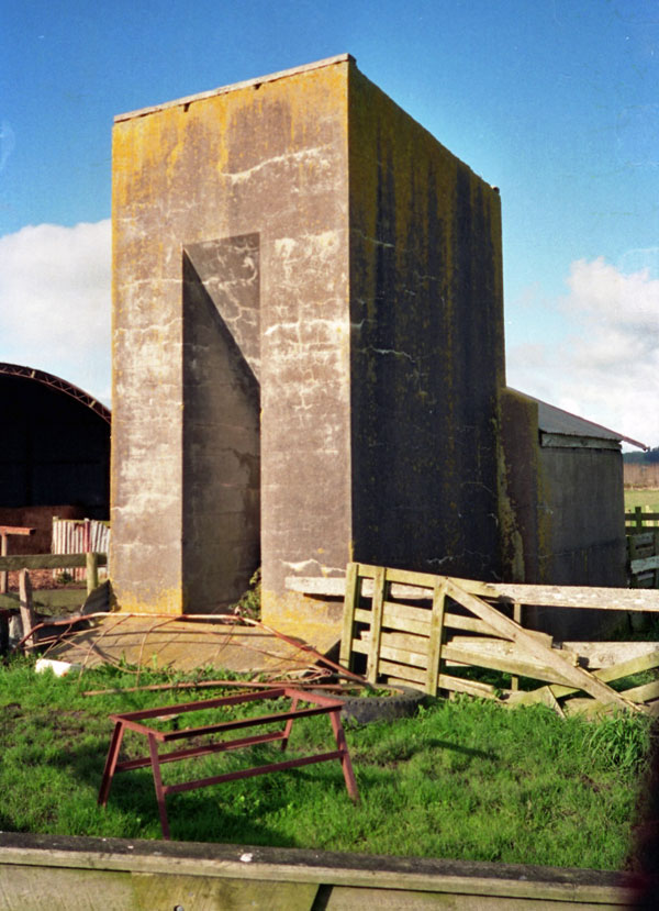Probably the southeastern anchor block for the Awanui tower