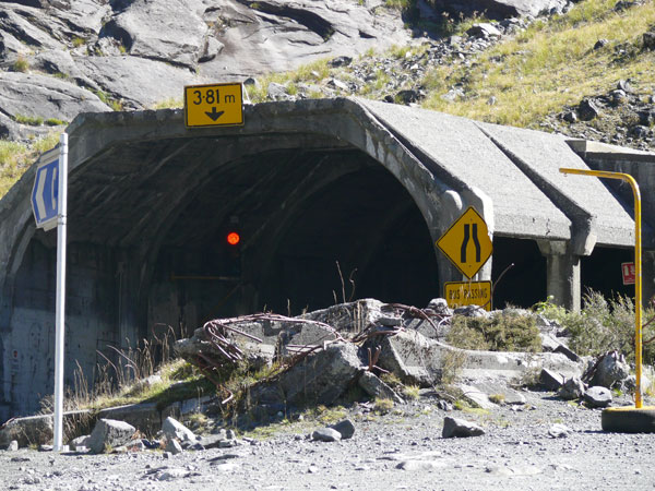 Eastern Portal of the Homer Tunnel in 2009