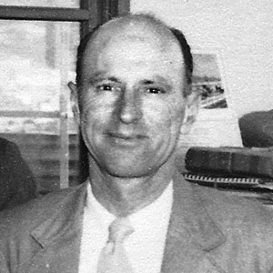 Ray Allsop at Radio Section, probably 1950s