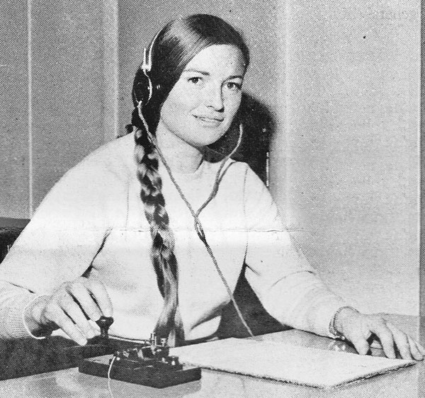 Phillippa Reynolds was the first woman to undertake a Radio Inspector's course with the New Zealand Post Office
