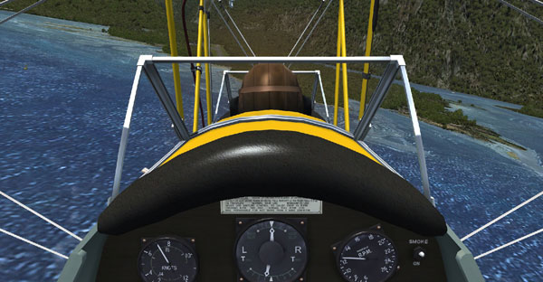 Using FSX/FTX,  a simulation showing a pilot's view on short finals to the sealed runway of the modern airport at Milford Sound