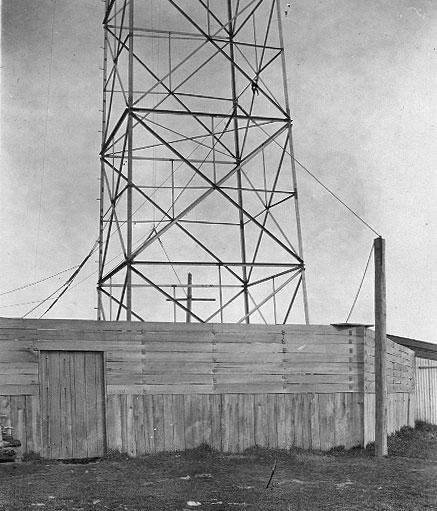 Steel lattice tower erected at Wellington Radio VLW in 1923