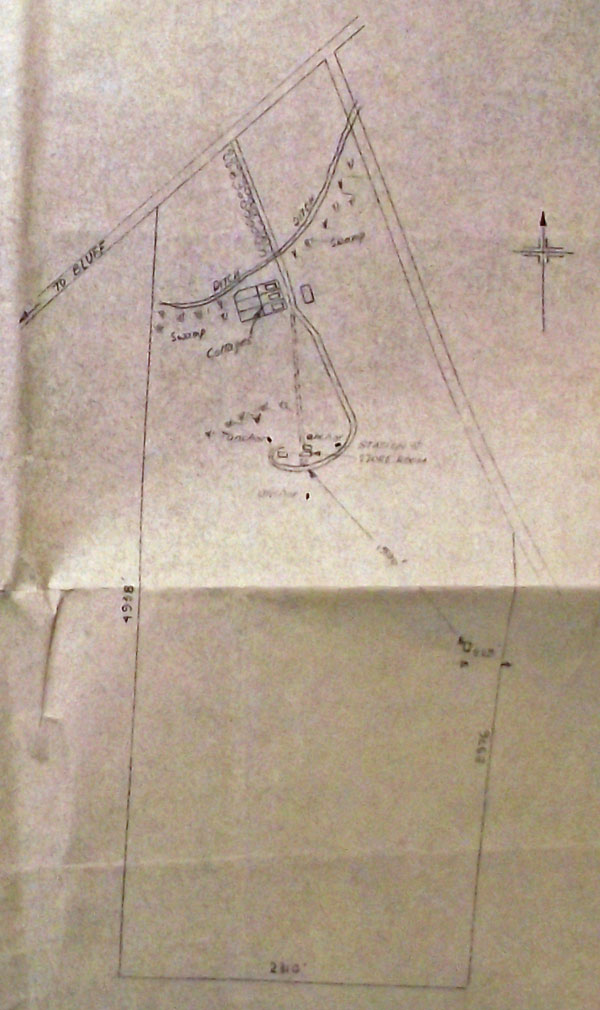Detail from the plan for alterations to main station building at Awarua Radio in 1940