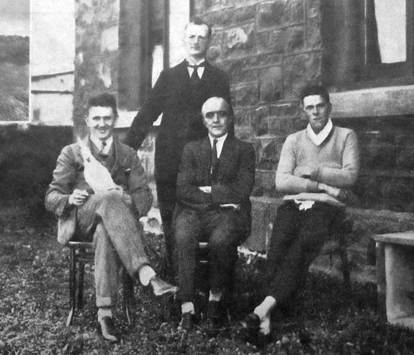 Staff at ZLW in 1926: Seated L-R: D McMahon, JD Hampton  [sic - should be JH Hampton] (Supt), RMA Thompson Standing: JF Sullivan