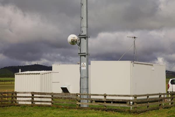 Microwave dish at Taupo Radio transmitter site