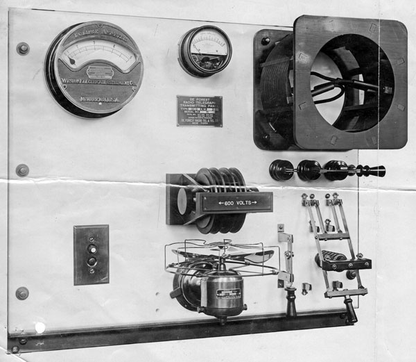 De Forest 2KW DC Arc transmitter panel