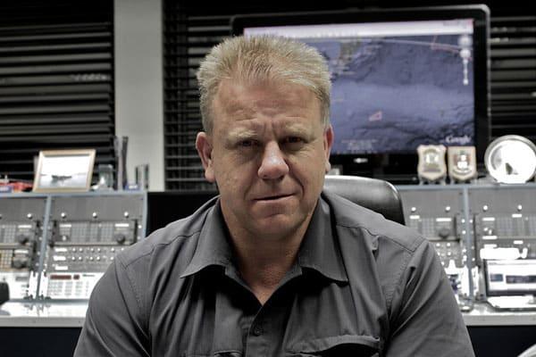 Radio operator Tony Graham at Taupo Maritime Radio ZLM, 18 Feb 2011
