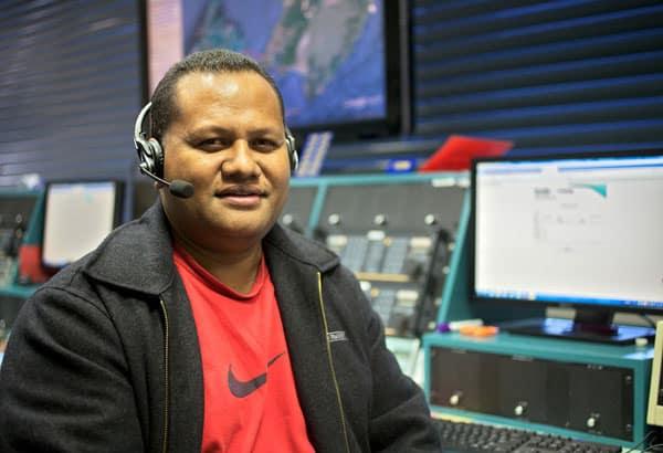 Enisi Maea, an operator at Nuku'alofa Radio in Tonga, visited Taupo Maritime Radio/Maritime Operations New Zealand for several months