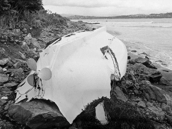 A Wahine lifeboat at Eastbourne the day after the sinking