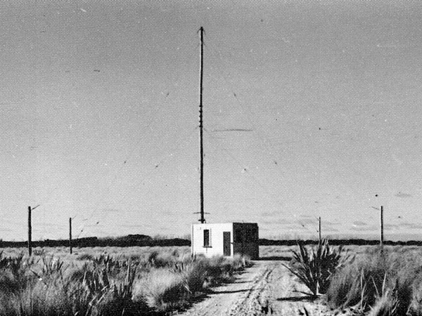 MF DF hut and masts at Awarua Radio