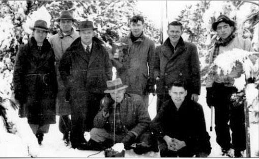 Radio Section team at Waiouru. L-R: E Suckling, M Parsons, D Calwell, J Metcalfe, T Seed, A Alderton, B Fraser, G Campbell