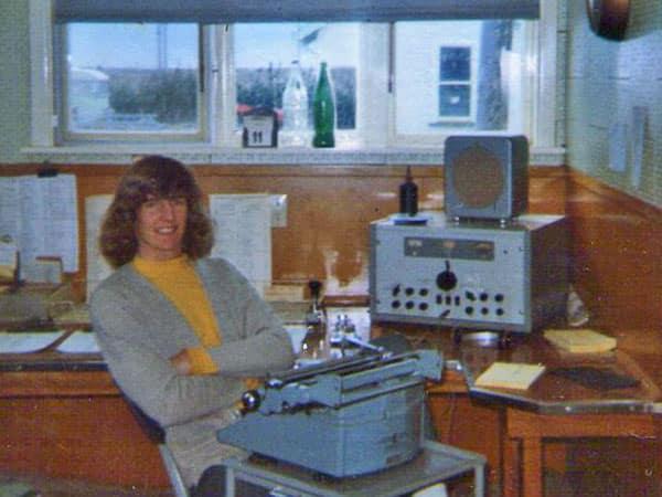 Radio operator Barry Meikle