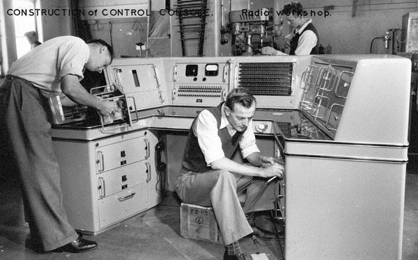 Control console for Himatangi Radio under construction