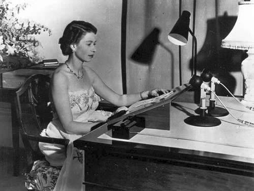 Queen Elizabeth delivers her 1953 Christmas message