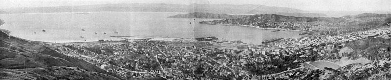 View from Tinakori Hill in 1911