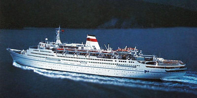 cruise ship Mikhail Lermontov