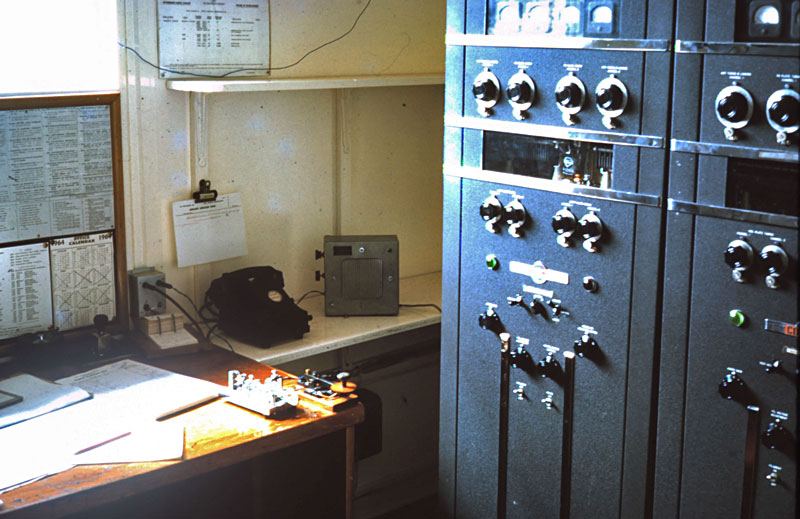 Telegraph keys and Collins AM/CW transmitters