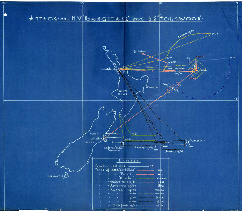 Map of search for Holmwood and Rangitane