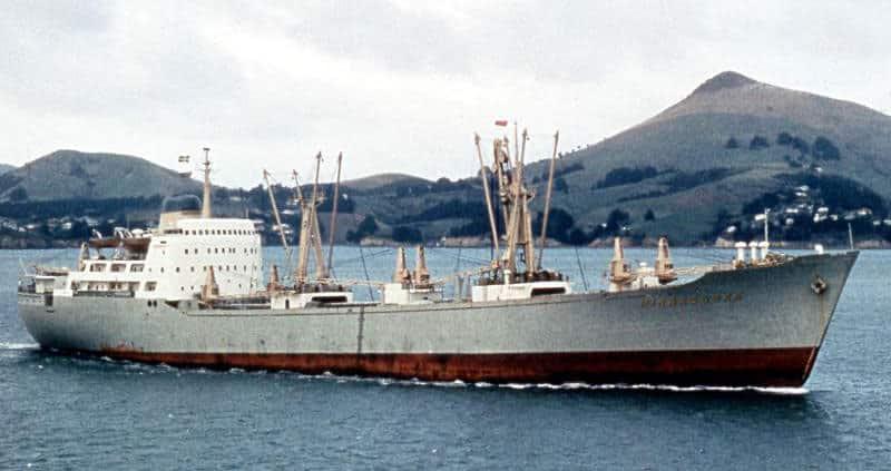 Swedish freighter Mirrabooka in 1968