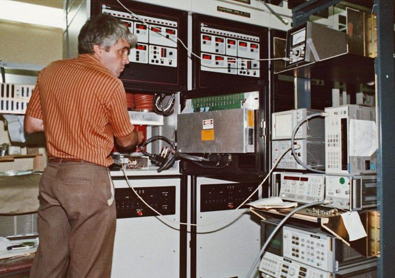 Rod Macintosh working on HPA Rack Rangiora SES