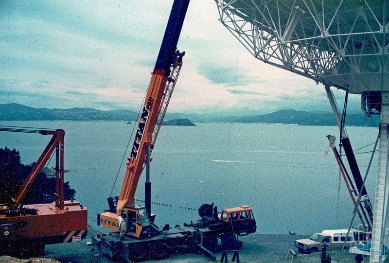 Wellington satellite station construction