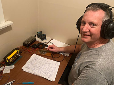 ZL2ARC station and operator Alastair