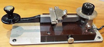 ITT Morse key at ZL2AUA