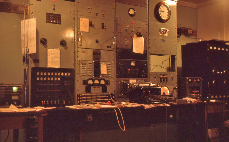Operating desk at Milford Sound Radio in 1961