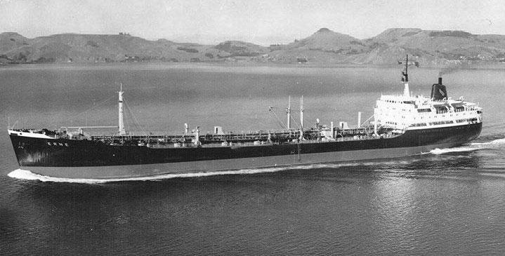 STS Erne departing Port Chalmers