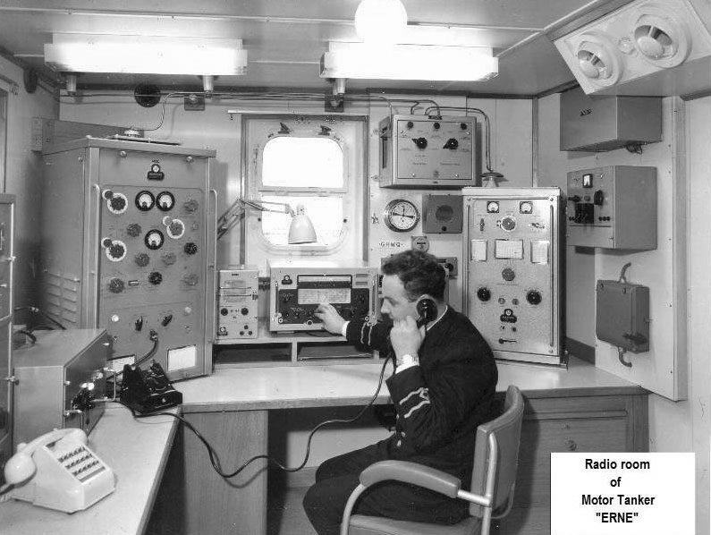 Radio room of STS Erne