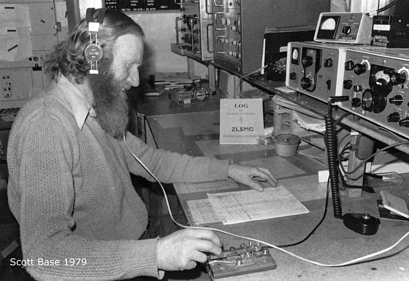 Maurie Challinor at Scott Base, 1979