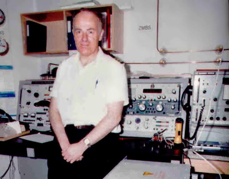 David Hopgood, Radio Officer aboard the inter-island ferry Arahura in the 1980s