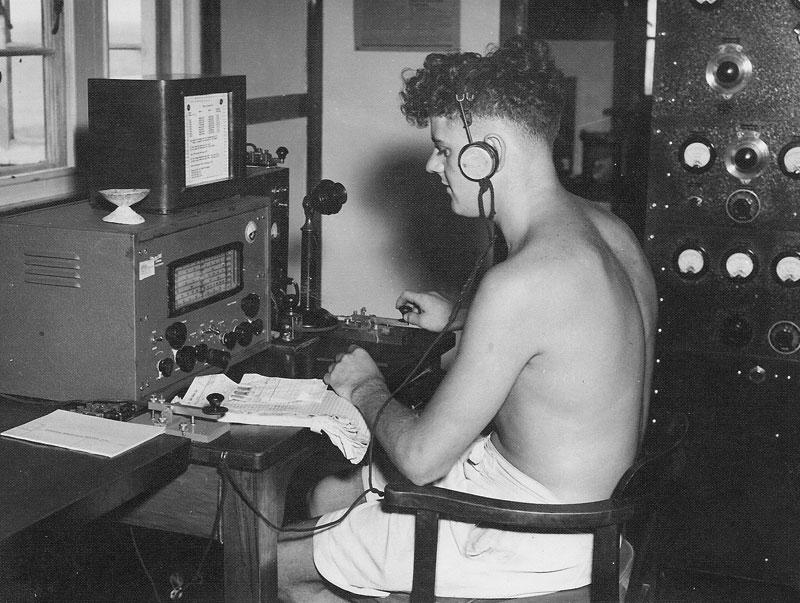 Lloyd (Cookie) Douglas at Raoul Island Radio ZME in late November 1949