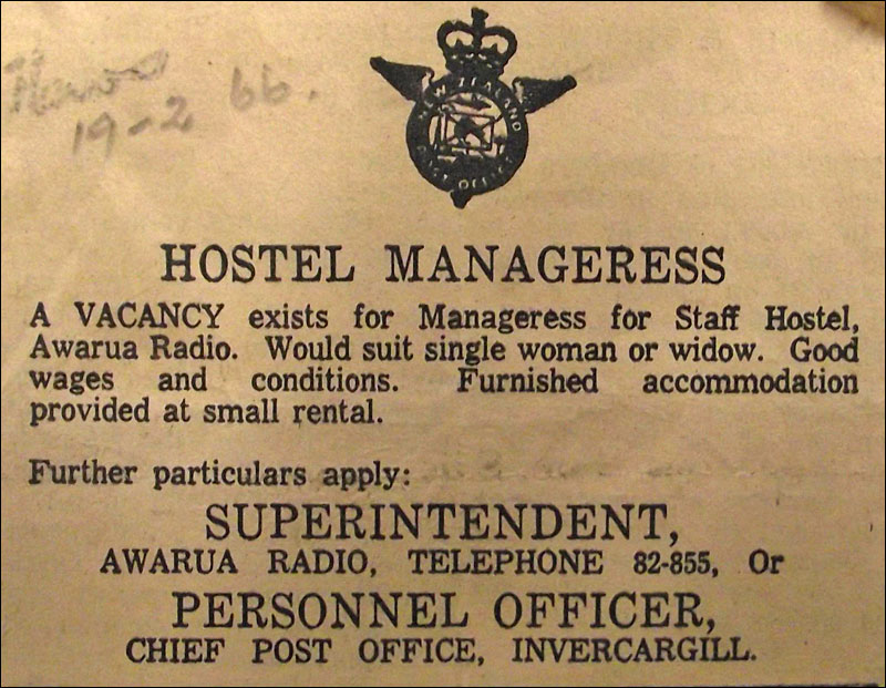 Job advert for Hostel Manageress at ZLB